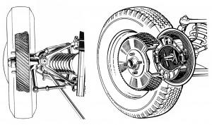 Impianto frenante della Giulietta Sprint con tamburi alettati